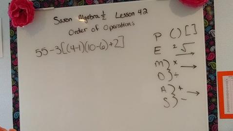 Thumbnail for entry Saxon Algebra 1/2 lesson  42-2