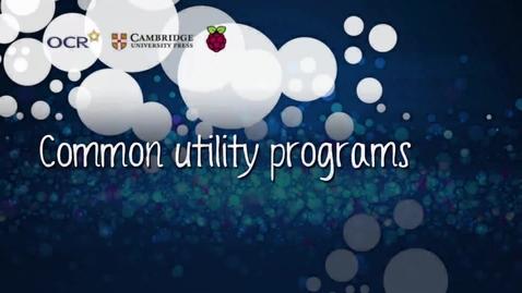 Thumbnail for entry Common utility programs - Part D