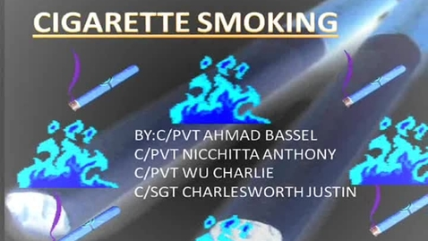 Thumbnail for entry Cigarette Smoking