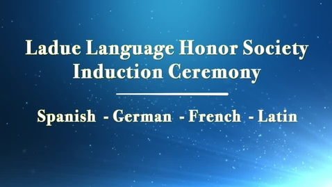 Thumbnail for entry Ladue High School Language Honor Society Induction Ceremony