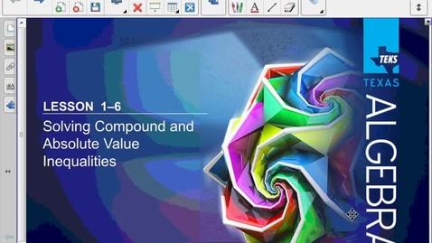 Thumbnail for entry Algebra 2 1.6 Lesson