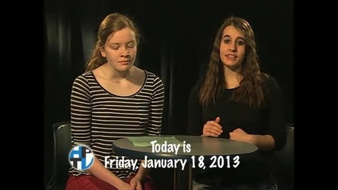 Thumbnail for entry Friday, January 18, 2013