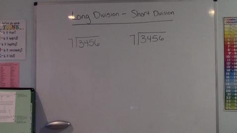 Thumbnail for entry Long Division - Short Division