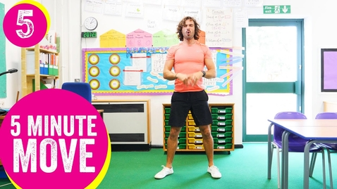 Thumbnail for entry 5 Minute Move | Kids Workout 5 | The Body Coach TV