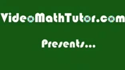 Thumbnail for entry Basic Math: Lesson 3 - Operations on Numbers -- Part 1