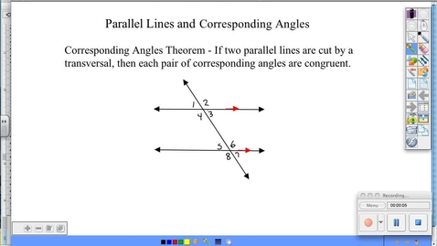 Thumbnail for entry BGeo 7.3 Parallel Lines and Corresponding Angles