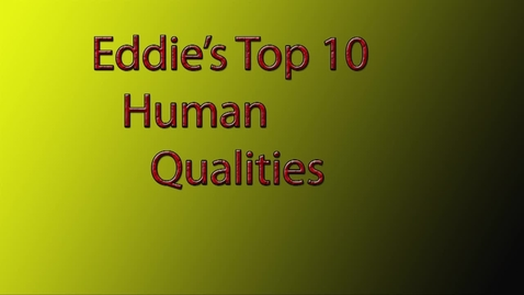 Thumbnail for entry Eddie's Top 10 Qualities - BB 2016/2017