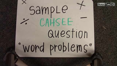 Thumbnail for entry Word Problems PART I