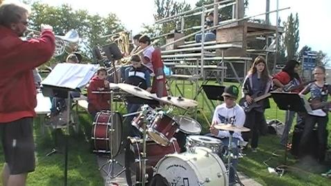 Thumbnail for entry Football Pep Band
