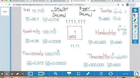 Thumbnail for entry May 20 Math Lesson