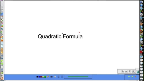 Thumbnail for entry Solve with quadratic equation