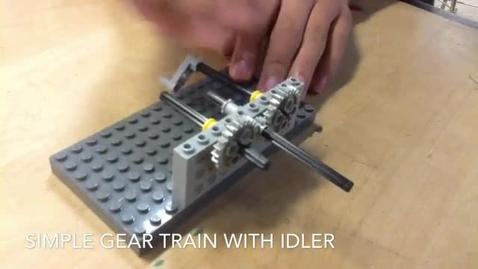 Thumbnail for entry Simple Gear Train with Idler