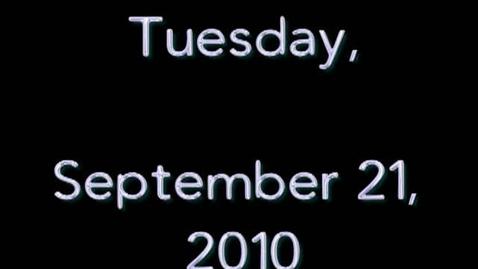 Thumbnail for entry Tuesday, September 21, 2010