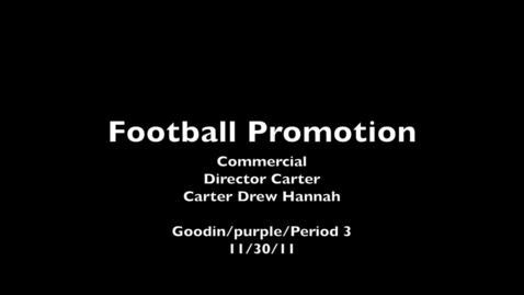 Thumbnail for entry CHS Football Promo