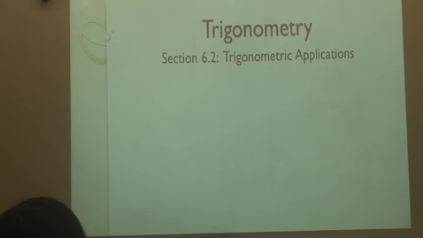 Thumbnail for entry Mr. Daniels' Trig 6.2 Part 1