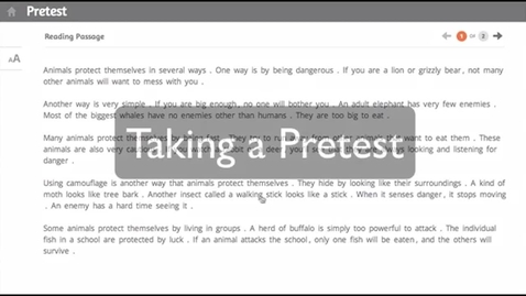 Thumbnail for entry SRA Reading Laboratory™ 2.0 eSampler: Pre-Test