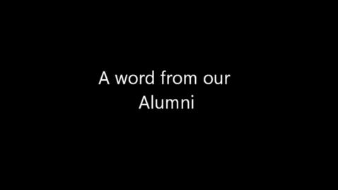 Thumbnail for entry Alumni Website Video