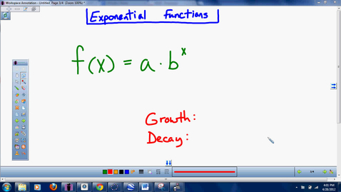 Thumbnail for entry Algebra II a 9.1