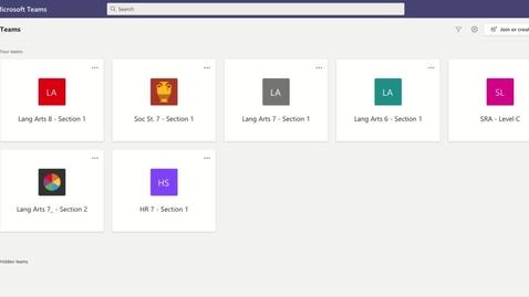Thumbnail for entry Accessing Microsoft Teams