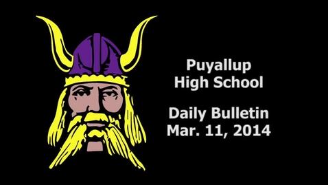 Thumbnail for entry PHS Daily Bulletin 03-11-14