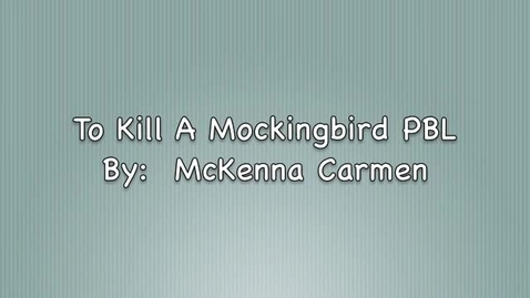 Thumbnail for entry Mockingbird