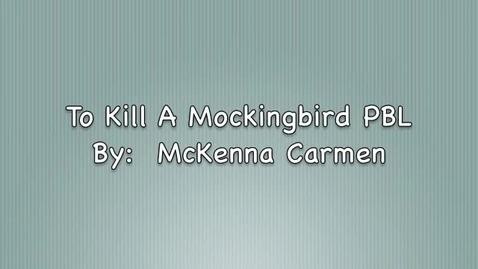 Thumbnail for entry Mockingbird