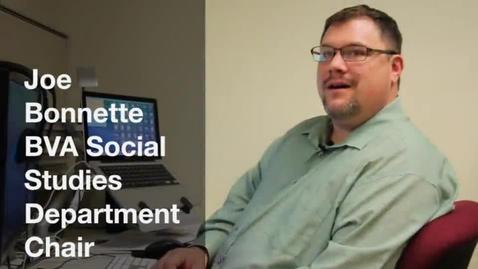 Thumbnail for entry BVA Teacher Highlight: Mr. Bonnette