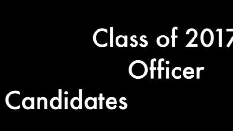 Thumbnail for entry PTHS Class of 2017 Officer Speeches