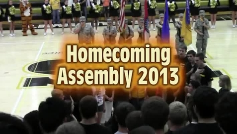 Thumbnail for entry 2013 Homecoming Assembly Part1
