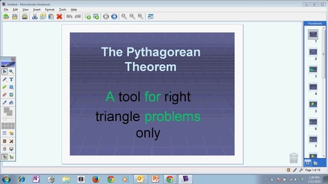 Thumbnail for entry Module 8 Pythagorean Theorem #1 2014-2015