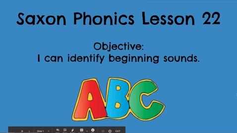 Thumbnail for entry Saxon Phonics Lesson 22