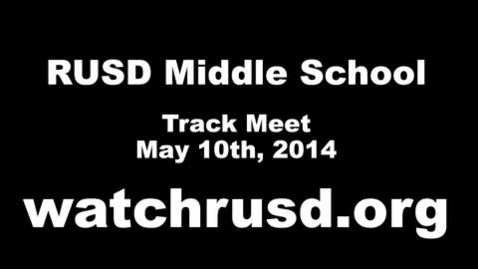 Thumbnail for entry Middle School Track Meet