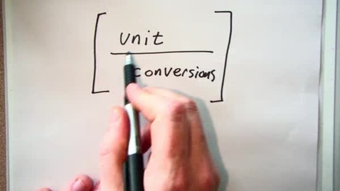 Thumbnail for entry Unit Conversions