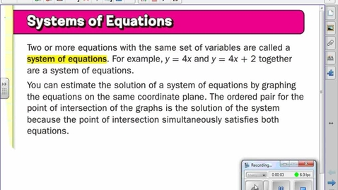 Thumbnail for entry Solving Systems of Equations