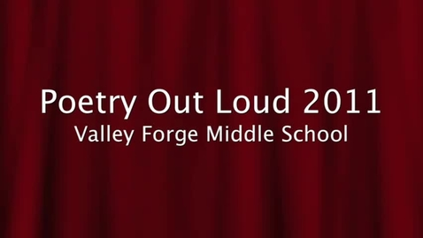 Thumbnail for entry Kilby Poetry Out Loud Movie 2011