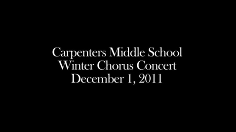 Thumbnail for entry Winter Chorus Concert