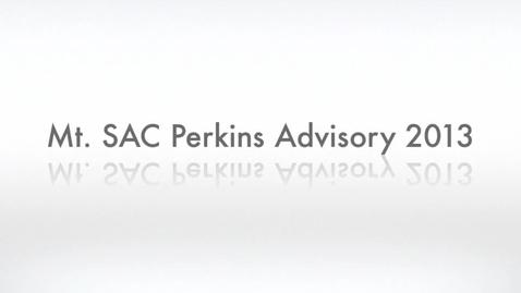 Thumbnail for entry Mt. SAC Perkins Advisory Meeting