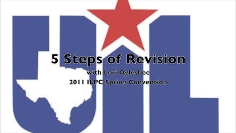 Thumbnail for entry 5 Steps of Revision with Lori Oglesbee