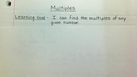 Thumbnail for entry Multiples