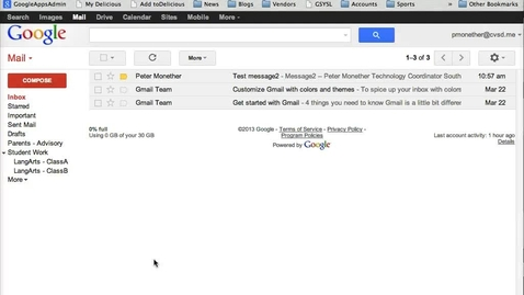 Thumbnail for entry Gmail Message Filter by Sender
