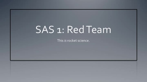 Thumbnail for entry Coppell Aeroscience 2011 Red Team PPT