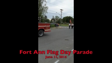 Thumbnail for entry Fort Ann Flag Day Parade