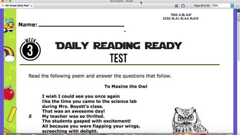 Thumbnail for entry Reading Friday, Sept. 11