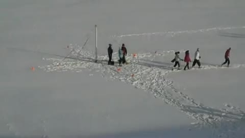 Thumbnail for entry Quick Look, Sedgwick students build a snow pyramid