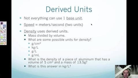 Thumbnail for entry 3. Derived Units, Density, & Percent Error