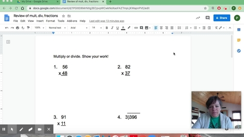 Thumbnail for entry Review of mult, div, and fractions