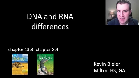 Thumbnail for entry DNA / RNA differences