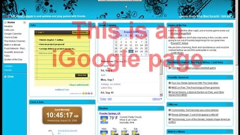 Thumbnail for entry iGoogle