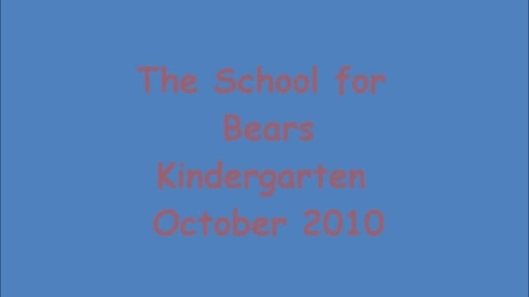 Thumbnail for entry Problem Solving- A School for Bears