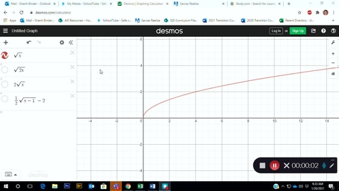 Thumbnail for entry Adv Mth BD E05 (TSW 4) - Graphing Square Roots and Cubed Roots in Desmos